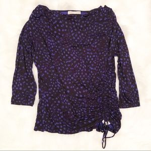 Michael Michael Kors purple dot 3/4 sleeve top L